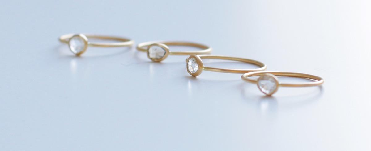 ローズカットの新作スライスダイヤモンドリングが限定発売《bororo》オーダー会