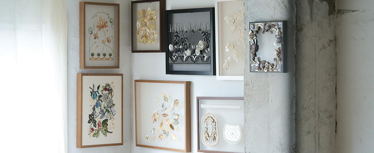 世界中の刺繍作品が集う展覧会に《Môko Kobayashi》が登場 – 横須賀